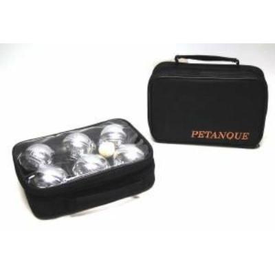 Pétanque, 6 fém golyóval, fekete táskában - 251204