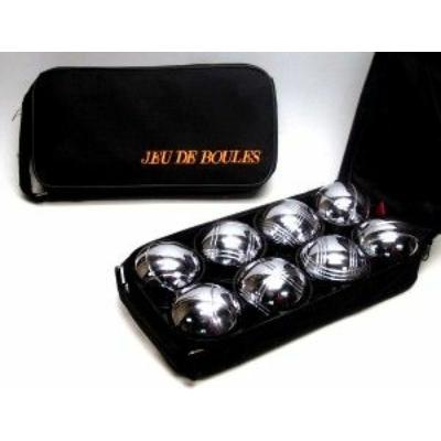 Pétanque készlet, 8 fém golyóval, fekete táskában - 251201