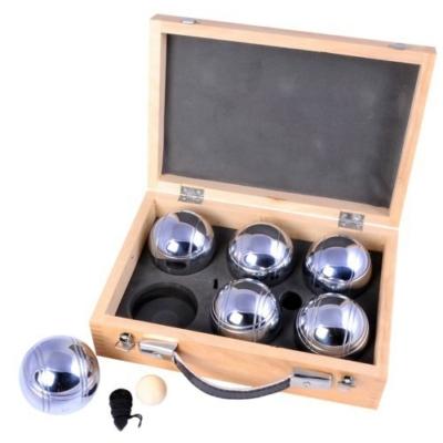 Pétanque fa dobozban, 6 golyó - 251216