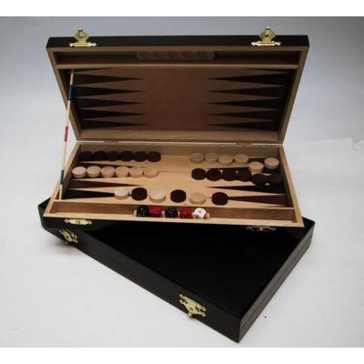 Backgammon fából, 28x15 cm, sötétbarna - 602113