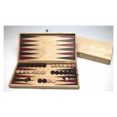 Backgammon világos fadobozban, 28x14 cm 601098