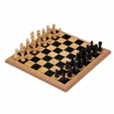 670235 Longfield sakk készlet fából 29cm*29cm