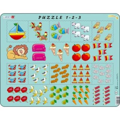 Larsen maxi puzzle 10 db-os 1-2-3 Puzzle AR2