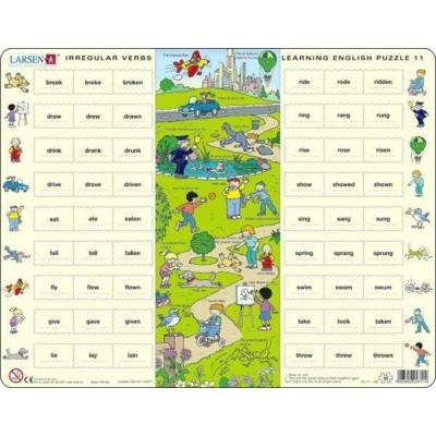 Larsen maxi puzzle 54 db-os Tanuljunk angolul! - Rendhagyó igék 1 EN11