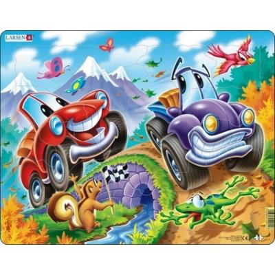 Larsen maxi puzzle 22 db-os maxi - Autók US11