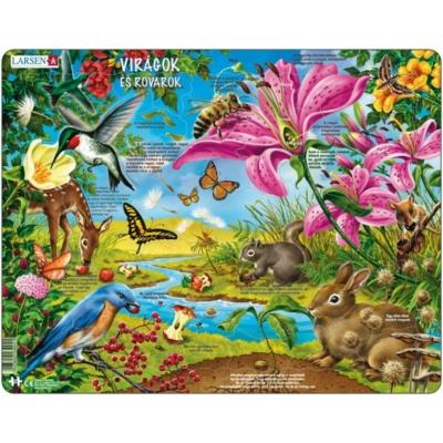Larsen maxi puzzle 55 db-os Virágok és rovarok (magyar nyelvű) NB4