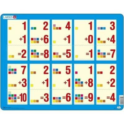 Larsen maxi puzzle 10 db-os Összeadás kék AR11