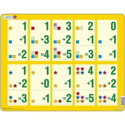 Larsen maxi puzzle 10 db-os Összeadás sárga AR14