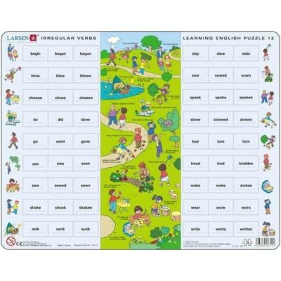 Larsen maxi puzzle 54 db-os Tanuljunk angolul! - Rendhagyó igék 2 EN12