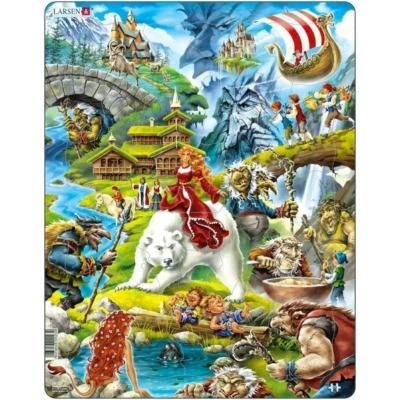 Larsen maxi puzzle 30 db-os Mesevilág US23