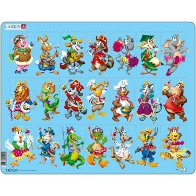 Larsen maxi puzzle 21 db-os Vidám állatok NM5