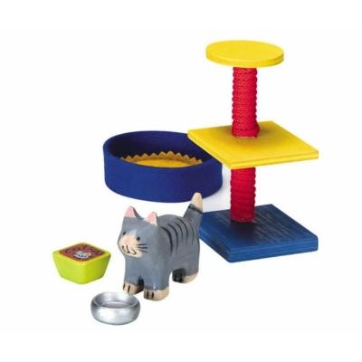 Katzen-Set Puppenhauszubehör