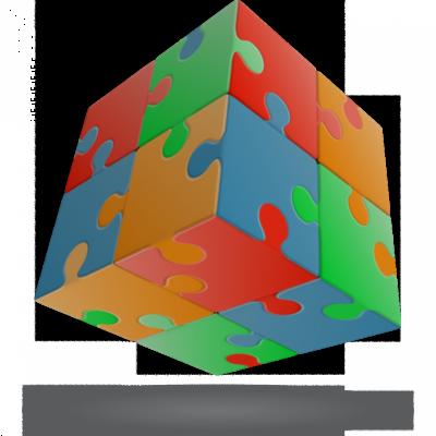 V-Cube 2x2 versenykocka, egyenes, Puzzle