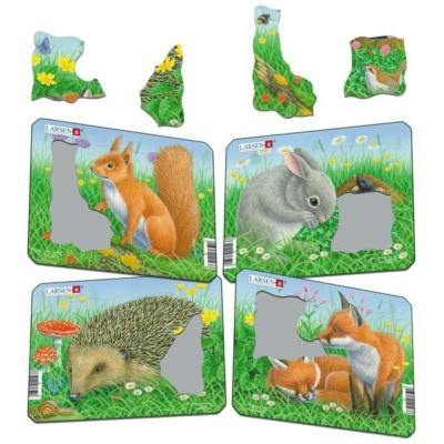 Larsen mini puzzle 5 db-os - Erdei állatok Z12