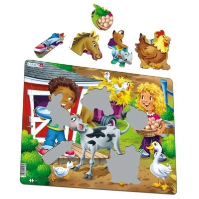 Larsen maxi puzzle 18 db-os - Farm gyerekekkel BM6
