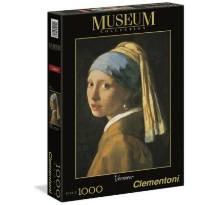 Clementoni 1000 db-os puzzle - Leány gyöngy fülbevalóval 39282
