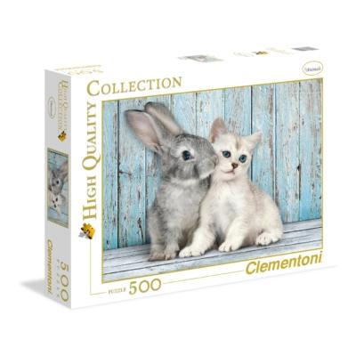 Clementoni 500 db-os puzzle Nyuszi és cica 35004