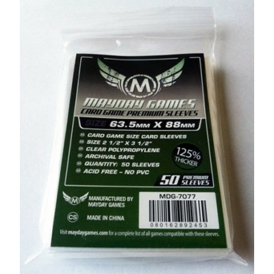 Mayday premium kártyavédő (sleeve) - 63,5*88 mm (50 db/csomag)