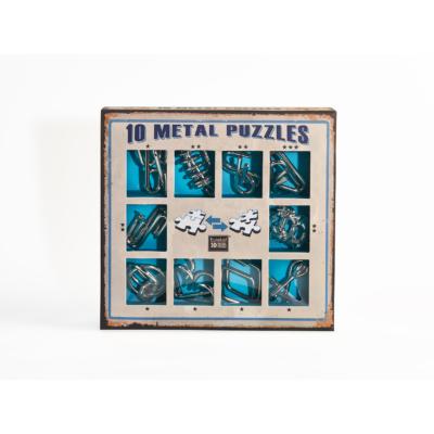 10 Metal Puzzle Set - kék *-***
