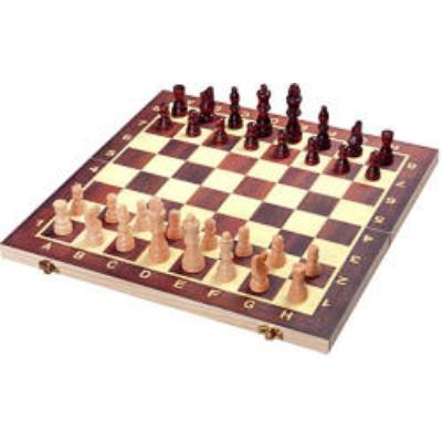 Unikatoy: Fa sakk készlet 34x34cm