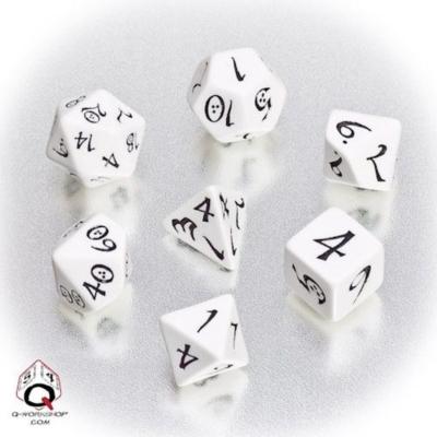 Dobókocka - Classic RPG White/Black (7 db-os szett)