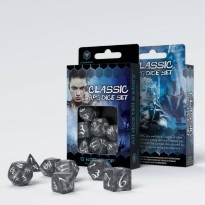 Dobókocka - Classic RPG Smoky/White (7 db-os szett)