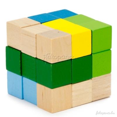 Kígyókocka (zöld-kék) - logikai játék