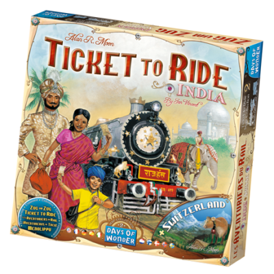 Ticket to Ride Map Collection 2: India & Switzerland