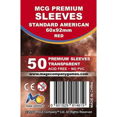 MCG Premium Standard US kártyavédő (sleeve) - 50db/csomag