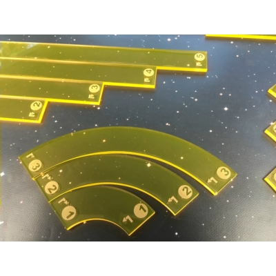 Star Wars X-Wing acrylic template set, sárga