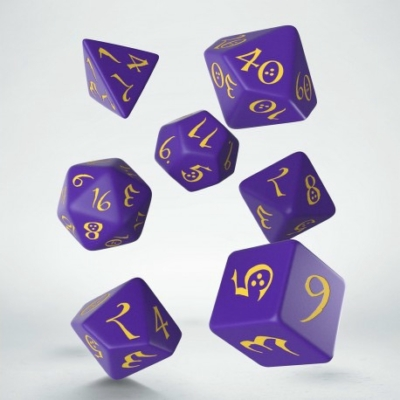 Dobókocka - Classic RPG Purple/Yellow (7 db-os szett)