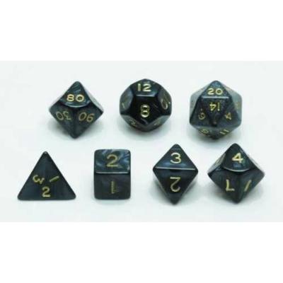 Dobókocka készlet, 7 darabos, szürke márvány/gyöngy - 731855